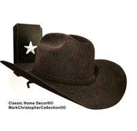 Awardpedia - Cowboy Hat Rack Black with Silver Stars ...