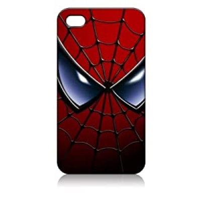 the Amazing Spiderman mask color illustrated cool iphone 4/4s case at amazon