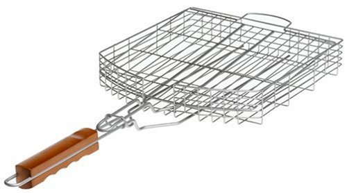 Mr. Bar-B-Q Oversized Silver Nonstick Grilling Basket