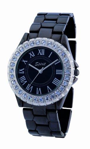 Spirit Damen-Armbanduhr Analog Formgehäuse schwarz ASPL28