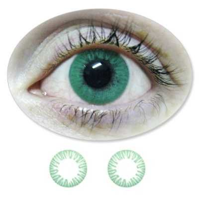 Farbige Kontaktlinsen Eintageslinsen Fun Green /Grüne ohne Stärken / Dioptrien