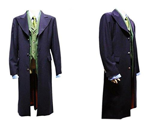 LYLAS Cosplay Costume Dark Knight Joker 7 Pcs Costume Set Halloween Suit (Male-XL)