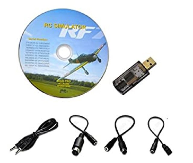Usb Flight Simulator Fms Cable For Dx5e Dx6i Dx7 Jr Futaba Rc Realflight Spektrum Esky Fms Support G G5 5 G5 G2 Aerofly Rc Helicopter Airplane