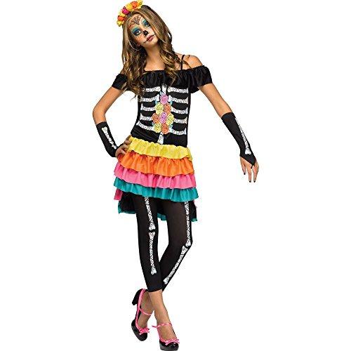 Teenager's Dia De Los Muertos Costume