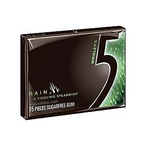 Wrigley39s Rain Spearmint 5 Gum Sugarfree Chewing Gum 15