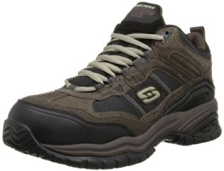 Skechers for Work Men's Soft Stride Canopy Slip Resistant Work Boot,Brown/Black,10.5 M US
