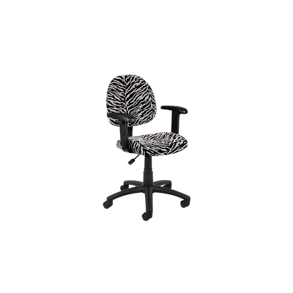 posture deluxe chair red slipper boss zebra print microfiber w on popscreen