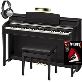 Casio AP620 Celviano Digital Piano BUNDLE with Bench, Headphones, Book, and Lamp