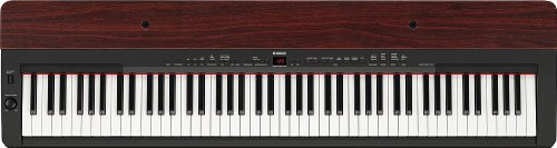 Yamaha P155 - Black with Mahogany 88-Key Graded Hammer Piano
