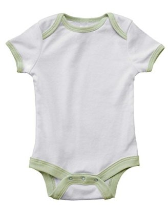 Bella-Canvas-Infant-Short-Sleeve-Baby-Rib-Ringer-One-Piece-WHITEPALE-GREEN-12-18MOS