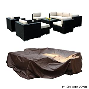 Genuine Ohana Outdoor Patio Wicker Sofa Sectional