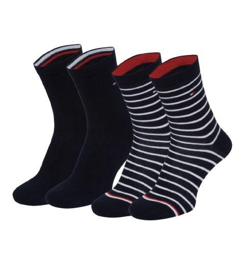 4 Paar Tommy Hilfiger Stripe Damensocken im Vorteilspack + sehr schneller Versand durch Amazon