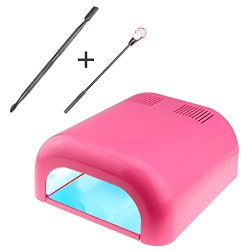 BuySShow Nail Dryer,Professional 36W Nail Polish Dryer UV Lamp Light,Upgraded with Sliding Tray & Timer Setting + Free Cuticle Remover+Free Acrylic Liquid mixing spoon