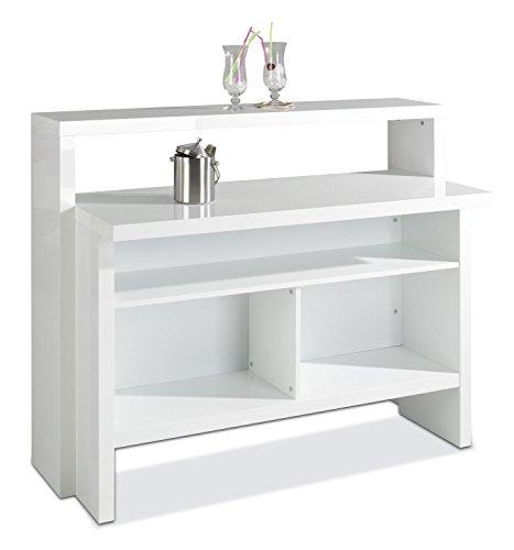 Bar Minibar Scully Weiß Hochglanz (B/H/T) 130x110x50 cm