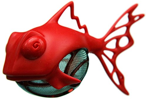 Dunkfish Tea Ball Infuser and Strainer - Red