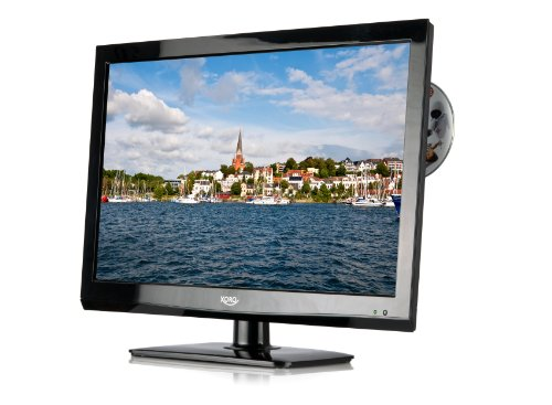 Xoro HTC 2440 HD 59,9 cm (23,5 Zoll) LED-Backlight-Fernseher (Full-HD, DVB-S2/-C/-T, HDMI, CI+, PVR, DVD-Player) schwarz