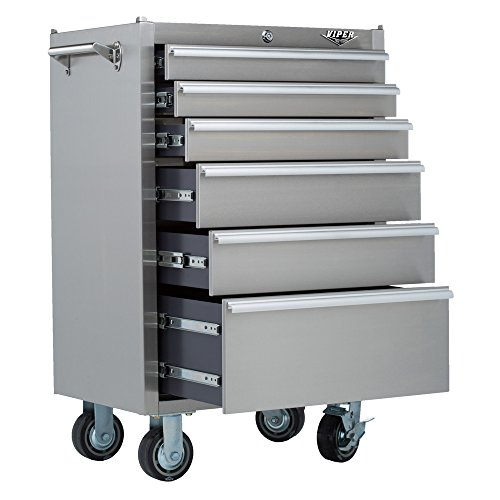Viper Tool Storage V2606SSR 26 Inch 6 Drawer 304 Stainless