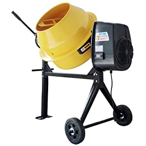 Buffalo Tools Pro Series 06532AZ Electric Cement Mixer, 3.5 Cubic Feet