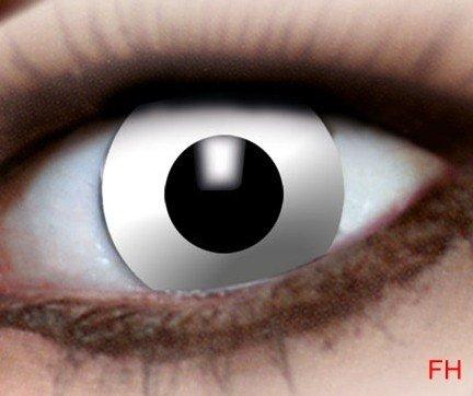 1 Paar farbige Kontaktlinsen weisser Zombie 12 monats Linse