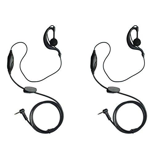 GoodQbuy® G Shape Clip-Ear Headset Earpiece Mic for