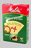 Melitta Natural Brown Basket Coffee Filter, #4 - 100 Count