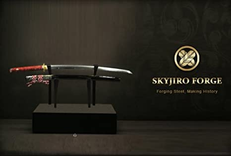 image of katana on stand