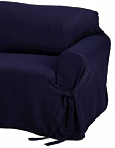 navy blue pet sofa cover murphy beds amazon.com - jacquard fabric solid couch/sofa ...