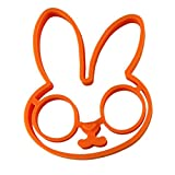 DZT1968(TM)1pcs egg little white rabbit egg shaper silicone moulds egg ring silicone mold cooking tools