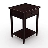 Stony-Edge Night Stand Side End table with Drawer & Usb ...