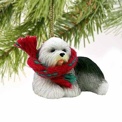 Old English Sheepdog Miniature Dog Ornament