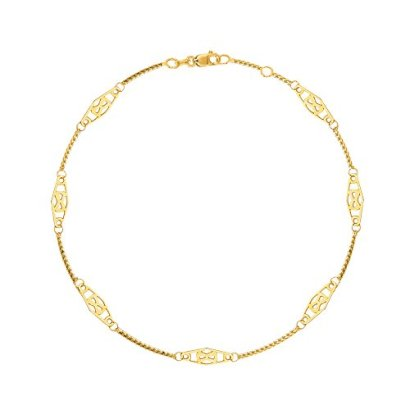 14K-Solid-Yellow-Gold-Infinity-Anklet-10-Inches