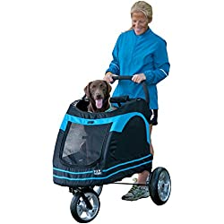 Pet Gear Roadster Pet Stroller for Cats and Dogs, Black/Blue