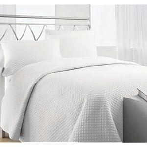 Soho Hotel White Cotton Quilt Diamond Bedding Set King