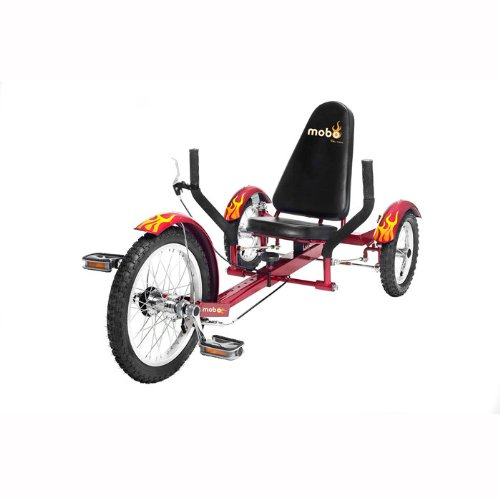 "Buy Mobo Triton (Red) The Ultimate 3 wheeled Cruiser (16"") ???"