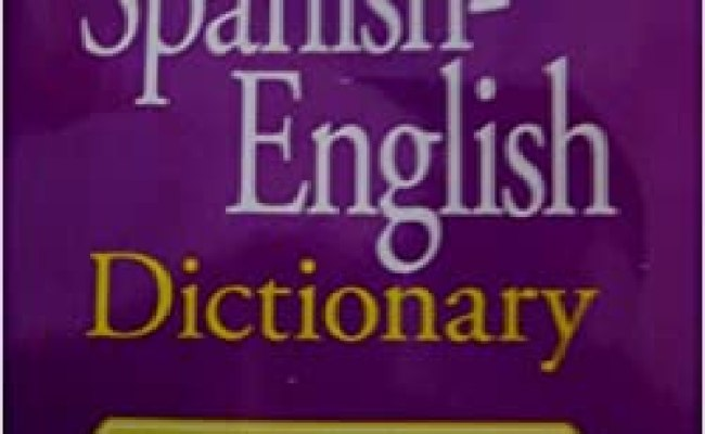 Webster S Spanish English Dictionary Created In