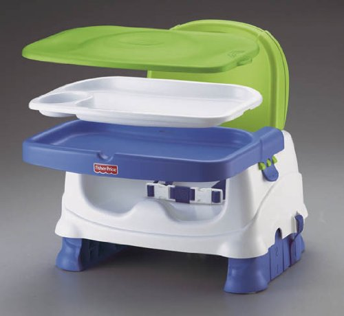 booster seat straps to chair pro gaming fisher-price healthy care deluxe seat, blue/green/gray, free shipping | ebay