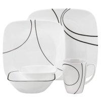 Corelle Square Simple Lines 30-Piece Dinnerware Set ...