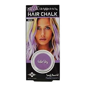 splat hair chalk violet sky beauty