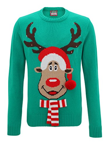 3D-Light-Up-Rudolph-Mens-Knitted-Christmas-Jumper