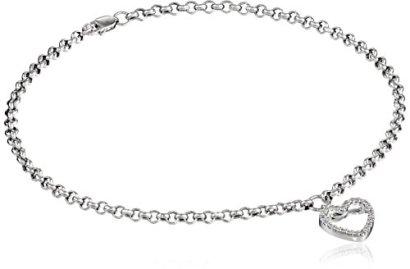 14k-White-Gold-and-Diamond-Ankle-Bracelet-110-cttw-H-I-Color-I2-I3-Clarity-95