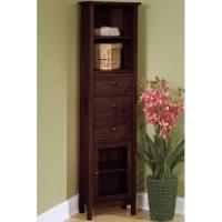 Amazon.com - Mission Corner Linen Cabinet Glass-door Light ...
