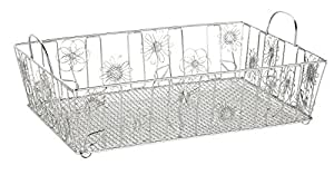 Amazon.com : Doodles Basket, Silver : Office Desk And