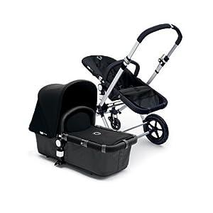 Bugaboo Cameleon Stroller - Dark Grey Base/Black Canvas Tailored Fabric Set