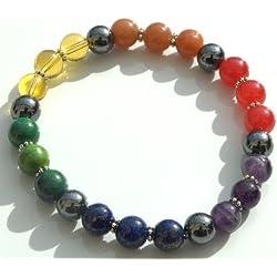 7 Chakra Crystal Grounding Stone Bracelet