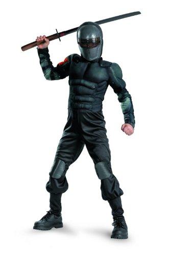 G.i. Joe Retaliation Snake Eyes Classic Muscle Costume, Black, Large