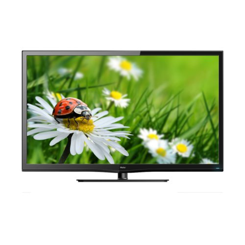 Haier LES42T1000HF 107 cm (42 Zoll) LED-Backlight-Fernseher, Energieeffizienzklasse A (Full-HD, 100Hz, DVB-T/-C/-S2, CI+) brilliantschwarz