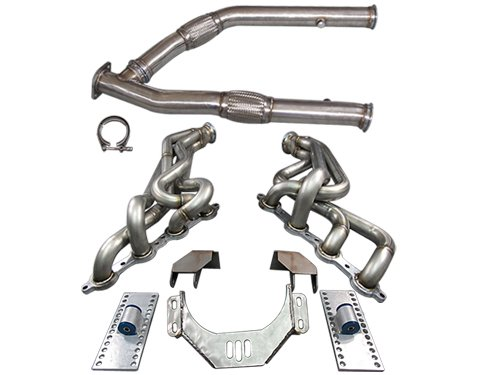 LS1 LSx T56 Mount Kit + Headers Exhaust Mid Y Pipe For 89