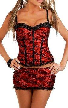 Sexy Korsett Rot Und Schwarz Ladybird