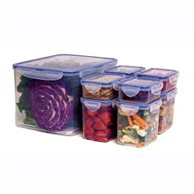Airtight Food Storage Container Set - 17 Piece Lock & Lock
