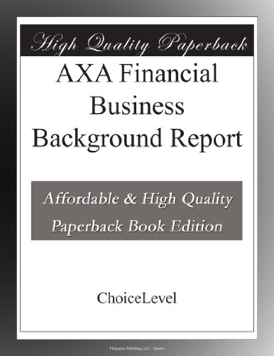AXA Financial Business Background Report
